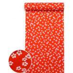 洗える紅(赤)襦袢 桜紋