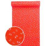洗える紅(赤)襦袢 蝶々紋