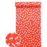 洗える紅(赤)襦袢 扇紋