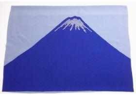 男物額裏 富士山絞り 鹿の子 紺