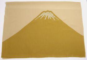 男物額裏 富士山絞り 鹿の子 金茶