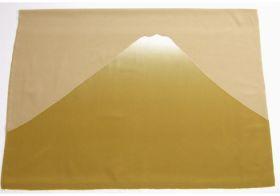 富士山絞り 男物額裏 金茶