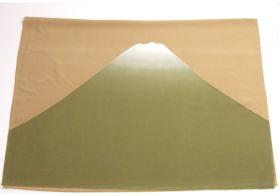 富士山絞り 男物額裏 薄橙/緑