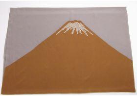 男物額裏 富士山絞り 鹿の子 渋紫/茶