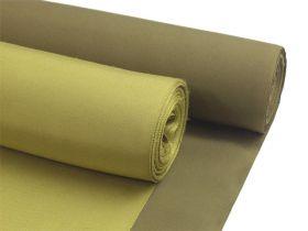 正絹男物着物生地/羽織生地セット 紬 辛子緑 着物/鶯茶 羽織