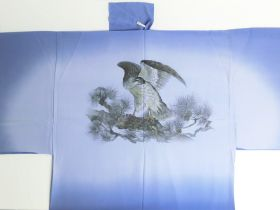 "Silk underwear of Men's kimono ""Tenryu""bland hawk ⑨ blue"