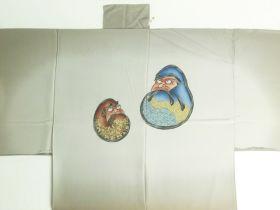 天竜 男襦袢 達磨 茶色 / ブラウン