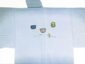 天竜 男襦袢 茶道具 / 茶器 グレー / 灰色 / ねずみ