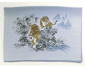 男物 額裏 グレー 竹に虎 「白山」ブランド