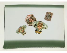 男物 額裏 緑 凧 「天竜」ブランド
