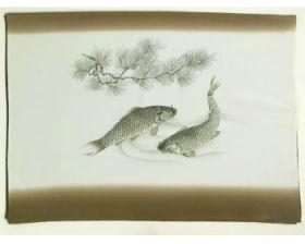 男物 額裏 茶色 夫婦鯉 「天竜」ブランド