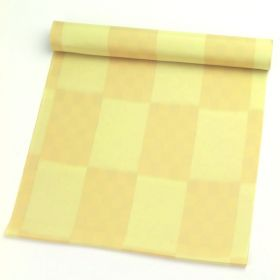正絹肩裏 無地に市松 1.5丈以上(約6m) No.2 黄色