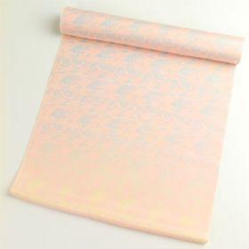 正絹 肩裏 総柄 ピンクにぼかし鳳凰 1.5丈以上(約6m)