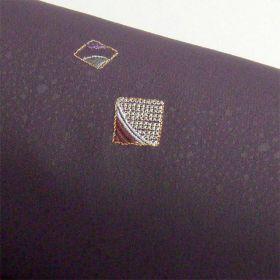 洗える着物 刺繍小紋  葡萄色 光触媒消臭 色紙