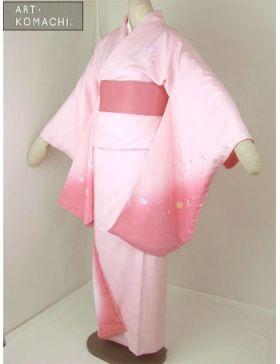 袴用着物アート小町二尺袖きものK503/ピンク系