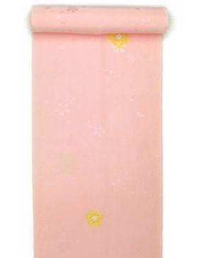 正絹長襦袢 桜吹雪に絞り 薄橙ピンク/本絞り