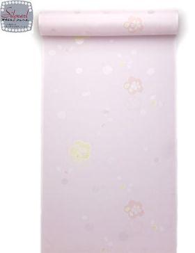 洗える長襦袢 反物 絞り柄 ピンク 水玉紋意匠