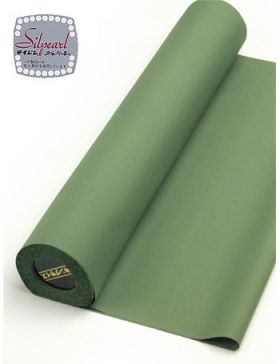 洗える着物 男物 羽二重  緑 裄丈87.5cm可能 超トールサイズ対応反物