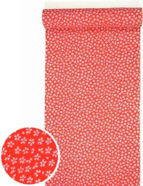 洗える紅(赤)襦袢 小桜紋