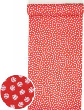 洗える紅(赤)襦袢 鈴紋