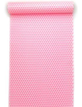 洗える長襦袢 白地にピンク うろこ