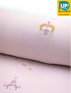 洗える着物 刺繍小紋 桜色 真夜中の舞踏会(シンデレライメージ)
