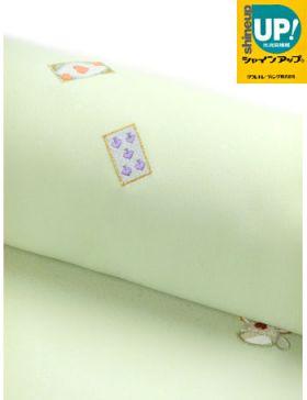 洗える着物 刺繍小紋 薄ひわ色(薄緑系)地にトランプゲーム