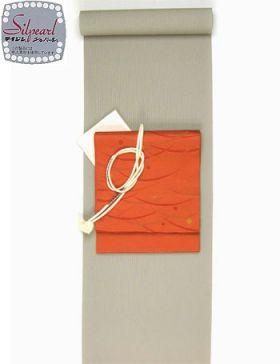 洗える着物 万筋(極細縞)/TL寸可能40cm巾 幅広 赤みグレーNo.5