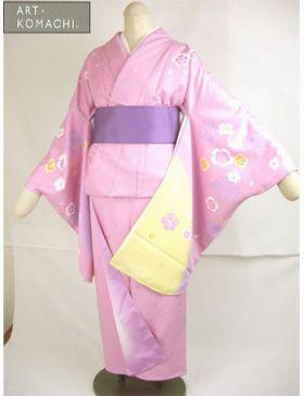 袴用着物アート小町二尺袖きものK501/藤紫色系