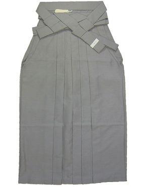 野袴 紬 色番13 シルバーグレー