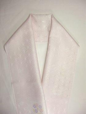 柔らかい洗える友禅半衿 花丸 桜色 E-14
