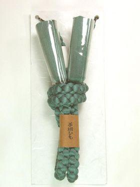 男物正絹羽織紐 手組み 丸組み 絹100% ミントグリーン