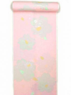 正絹振袖用襦袢 糊友禅 桜柄 ピンク クイーンサイズ
