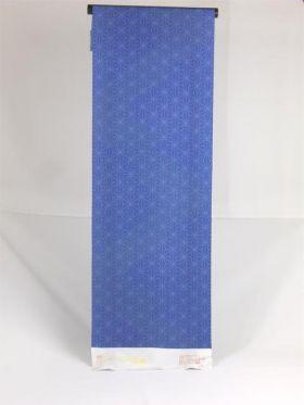 絹100%  丹後紬着物 麻の葉紋様 紺色