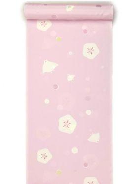洗える振袖用長襦袢(長尺) 水玉ちどりベリーピンク