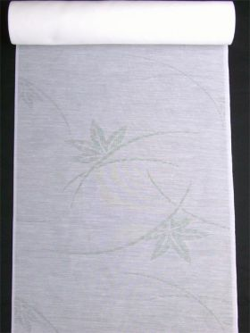 洗える長襦袢 夏物 麻混紋紗 楓柄