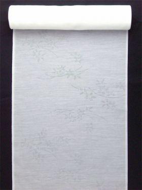 洗える長襦袢 夏物 麻混紋紗 りんどう柄