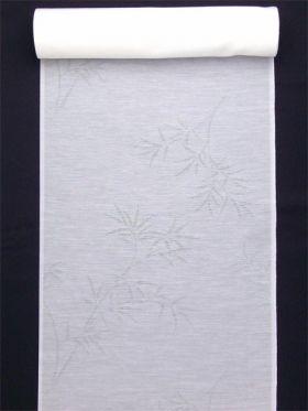 洗える長襦袢 夏物 麻混紋紗 笹柄