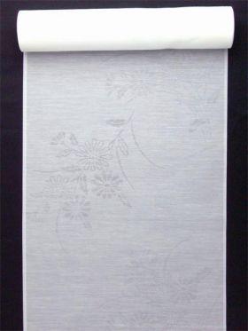 洗える長襦袢 夏物 麻混紋紗 菊柄