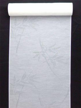 洗える長襦袢 夏物 麻混紋紗 竹柄