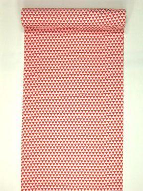 洗える長襦袢 白地に紅(赤) 吉祥ウロコ