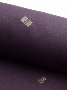 洗える着物 刺繍小紋 源氏香柄 葡萄色(濃紫色)