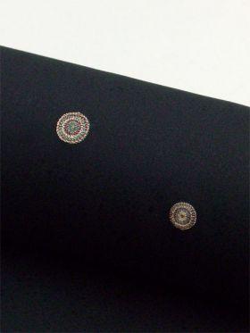 洗える着物 刺繍小紋 たまゆら柄 黒 光触媒消臭