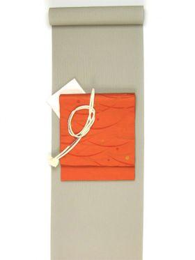 洗える着物 万筋(極細縞)/超TL寸可能42cm巾/裄丈80cm可 赤グレー