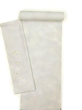 正絹内袖刺繍長襦袢(内袖暈し) 青グレー色