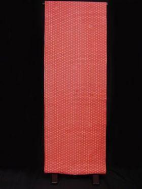 洗える紅(赤)襦袢 麻の葉紋