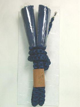 男物正絹羽織紐 手組み 丸組み 絹100% ビビットブルー