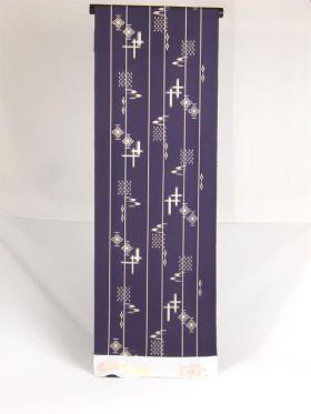 絹100%  丹後紬着物 無地に燕 紫