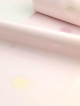 洗える長襦袢 水玉色地にぼかし ホワイトピンク