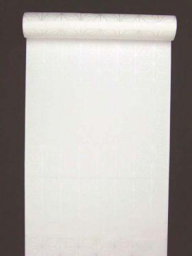 洗える長襦袢 白 クイーンサイズ 麻の葉紋 反物